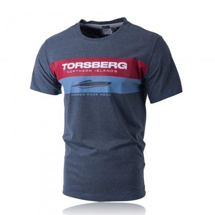 Racing T-Shirt navy-melange