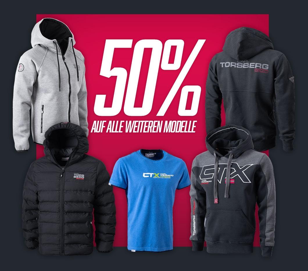 50% Rabatt auf alle weiteren Modelle