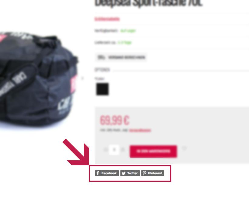 Social Plugin Produktseite